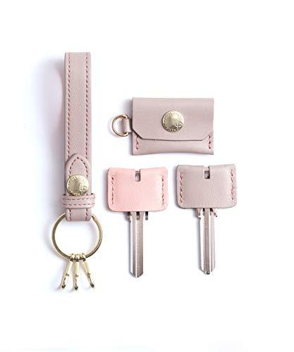 [ MAMORIO 内蔵 ] なくさない Key Ring キーリング 小物 紛失防止 電池交換可能 本革