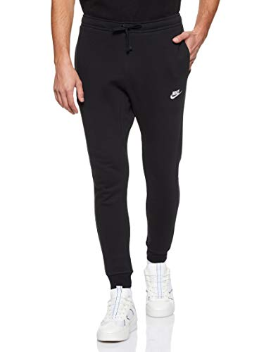 Nike Herren Jogger Fleece Club Trainingshose, schwarz (Black/White), Large