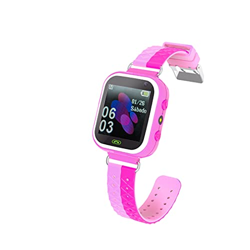 Supoggy Reloj Inteligente Niño Smartwatch para niños Pulsera Niños SOS Cámara Pantalla Táctil para niños para iOS/Android Reloj Niño (Rosa)