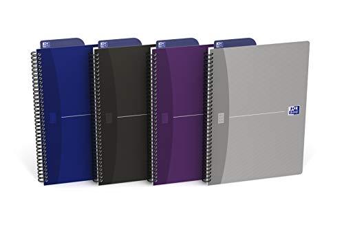 Oxford 400090614Office Essentials–Libreta encuadernada B5180páginas punto 5mm colores aleatorios