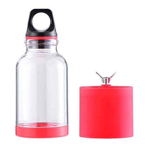 Duofenlh Extractor de jugos Mini licuadora Exprimidor de Frutas 500 ml Jugo eléctrico Taza Pequeños electrodomésticos de Cocina Pies Antideslizantes, Rojo