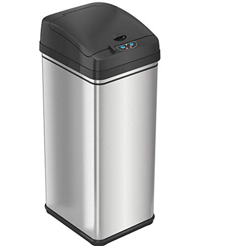 iTouchless 13 Gallon Pet-Proof Sensor Trash Can with AbsorbX...