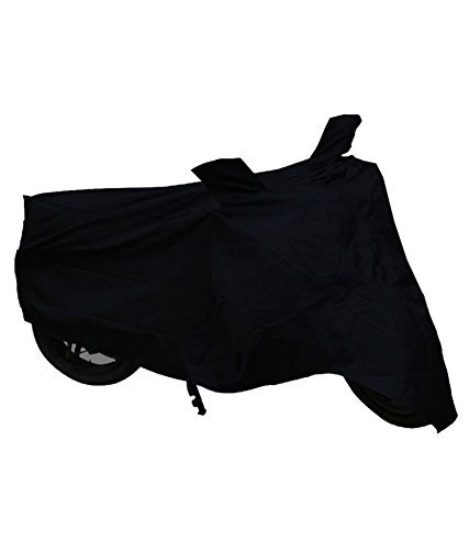Black Dust Proof Water Resistant Double Mirror Pocket Bike Body Cover for Super Splendor