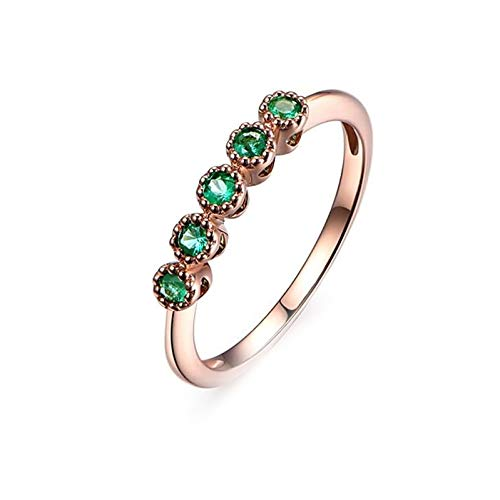 Ubestlove Frauen Ringe Rosegold Mama Geschenk Ideen Diamant Akzentuiert Ring 0.17Ct Frauen Geschenk 63 52