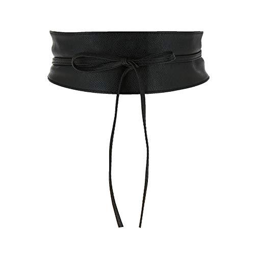 Fashiongen - cintura di finta pelle Obi MICA - Nero, S-M