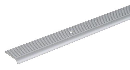 GAH-Alberts 471996 Treppenkanten-Schutzprofil, Material: Aluminium, Oberfläche: silberfarbig eloxiert, Länge: 2000 mm, Gesamtbreite: 23 mm, Gesamthöhe: 5 mm, Materialstärke: 2,0 mm