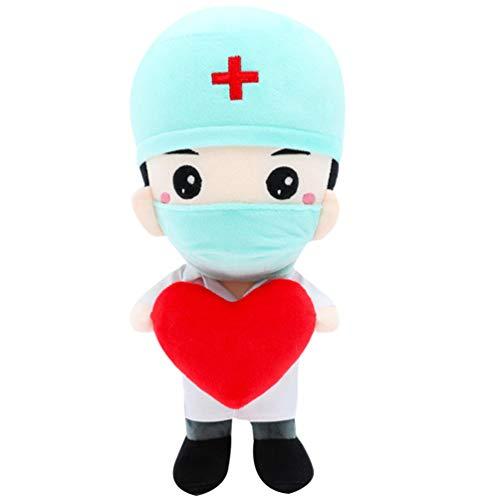 TOYANDONA Muñecas de Felpa Suave Médico Enfermera Muñeca Estatuilla Enfermera Médico Regalo Conmemorativo para Médico Enfermera Apreciación Fiesta Favores