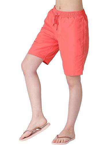 ICEPARDAL(アイスパーダル) サーフパンツ レディース 水着 ロング丈 全20色柄 IR-7600 ピンク W Mサイズ ボードショーツ 水陸両用 体型カバー ランニング ウェア ピンク 桃色