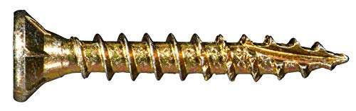 Hard-to-Find Fastener 014973458911 Multi-Purpose Wood Screw, 6 x 1, Yellow, 50