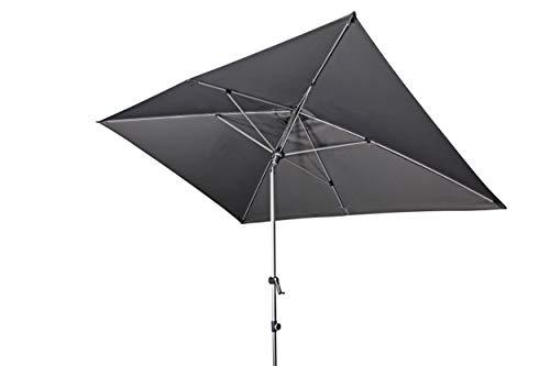Doppler EXPERT Auto Tilt – Rechteckiger Sonnenschirm für Balkon oder Terrasse – Knickbar – ca. 300x200 cm – Hellgrau
