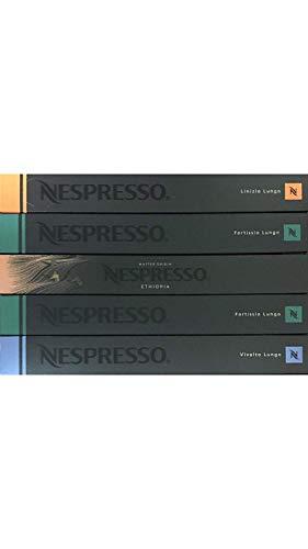 Nespresso Lungo-Set, Vivalto / Linizio / Fortissio / Bukeela, 50 Kapseln, 250 g