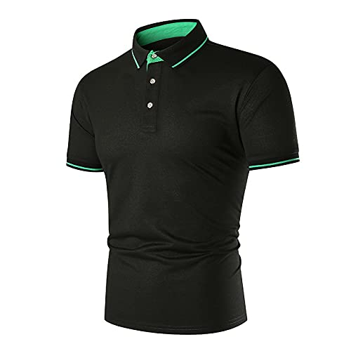 Nuevo 2021 Camiseta Hombre Verano Polo Moda Color sólido Camiseta Deporte Manga corta Negocio Diario Cómodo Slim Fit Casuales T-shirt Blusas originales camisas algodón suave básica Camiseta