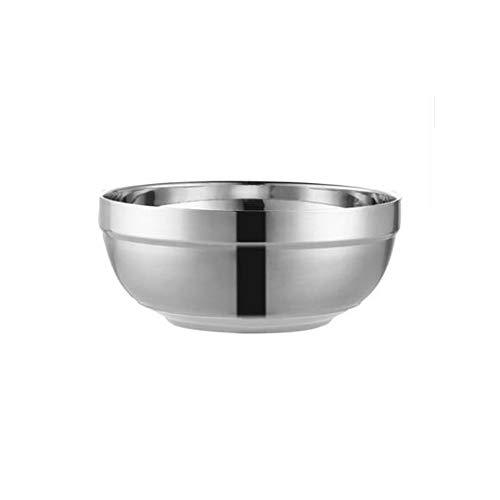 YUZHUKKKPYZW - Ciotole per cereali in acciaio inox, a doppio strato, anti-scottatura, ciotola isolata, ciotola per la mensa per la casa, ciotola per zuppa, leggera e resistente, colore: Gr