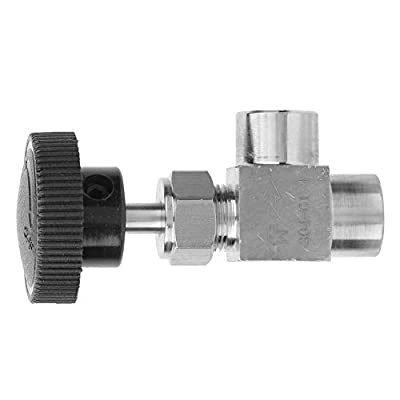 Water Transmission Stop Valve, Female Thread Needle Valve, High Pressure Fuel for Water(Black handle 1/4 inner wire) from Simlug