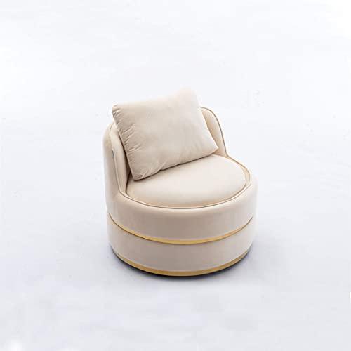 único The New Bounty Upgrade Silla giratoria de Acento Bucket para habitación de Hotel/Silla de Ocio Moderna Sillón reclinable Suave y Relajante (Color: Beige)
