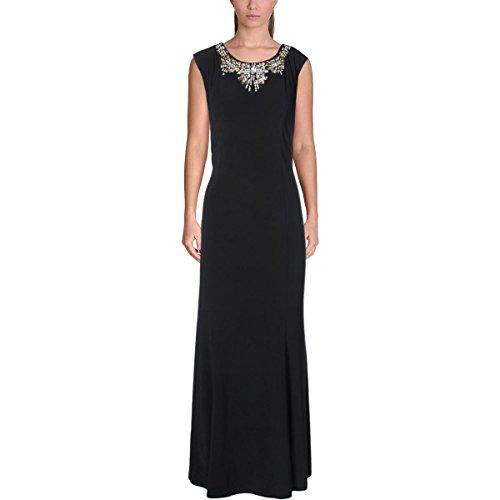MSK Womens Matte Jersey Embellished Evening Dress Black 10