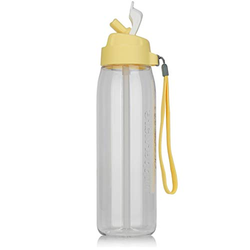 Botella deportiva de 750 ml, Taza para sorber, plástico a Prueba de...