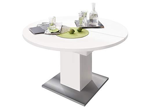 Esszimmertisch Speisentisch Esstisch Tisch Küchentisch Holztisch Judd III Blanco/Edelstahl