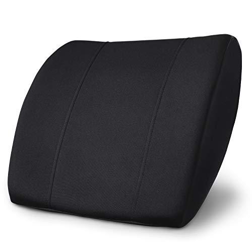 PharMeDoc High Density Memory Foam Lumbar Support Cushion for Office Chair & Car Seat - Orthopedic & Ergonomic Pillow Design