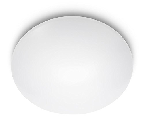Philips MyLiving SUEDE plafón LED, luz blanca neutra 4000K, 4X2.4W, blanco