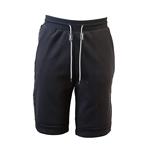 N?A Athletic Shorts for Men–Jogger Shortswith Elastic Waistband and Drawstring (Small) Black