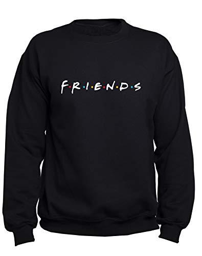 EUGINE DREAM Friends Logo Friends Sweatshirt Unisex Felpa Nero M