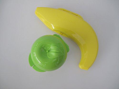 TUPPERWARE Obstboxen Apfel grün+ Banana Joe gelb Bananajoe Banane Dose Behälter