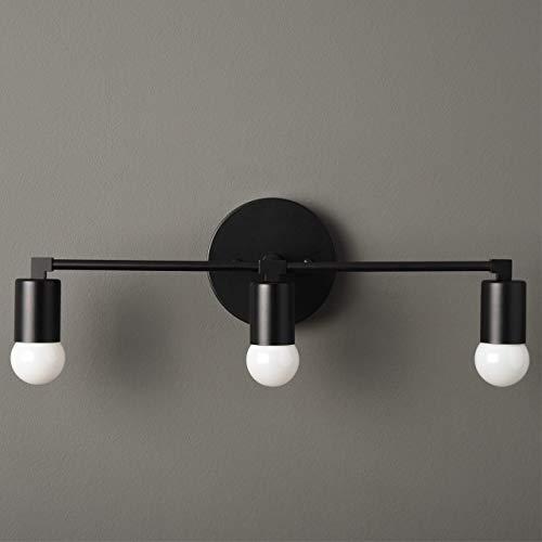 Handmade in U.S.A. Matte Black Mid Century Modern Downward 3 Light Wall Sconce
