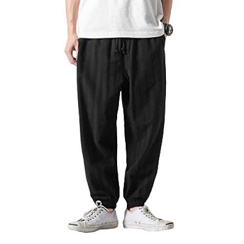Pantalones Harem de Color de Contraste a Rayas para Hombre, Ropa de Calle Suelta, Tendencia Salvaje, sección Delgada, Pantalones cómodos con Cintura elástica 5XL