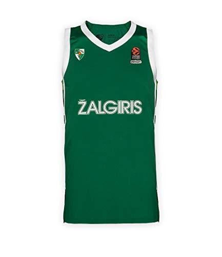 BC Zalgiris Kaunas Camiseta oficial de baloncesto para hombre, Hombre, 1688, verde, medium