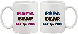 Mama Bear - Papa Bear - Mummy And Daddy - Mug Gift For New Parents/Couples 11oz