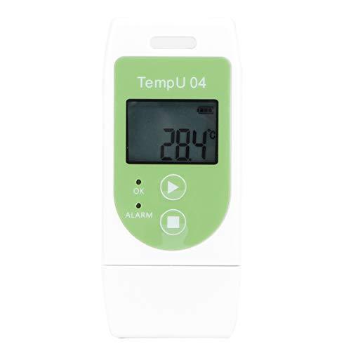 Registrador de temperatura preciso, registrador de temperatura duro y duradero con PDF, gran capacidad de datos para vehículos frigoríficos industriales