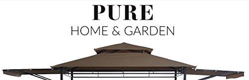 Pure Home & Garden Ersatzdach für Grill Pavillon San Lorenzo, ca. 120 x 250 cm, wasserabweisend mit UV-Schutz 40 Plus