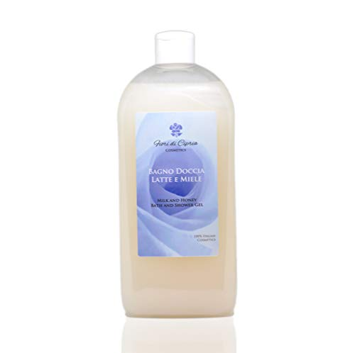 Milk And Honey Bath And Shower Gel - Hydrating Qualities Of Milk And Calming Properties Of The Acacia Honey Make It The Ideal Treatment For Every Washing - Made In Italy - 500 Ml
