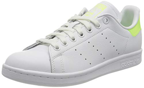 adidas Stan Smith W, Scarpe da Ginnastica Donna, Ftwr White/Hi-RES Yellow/Signal Green, 40 EU