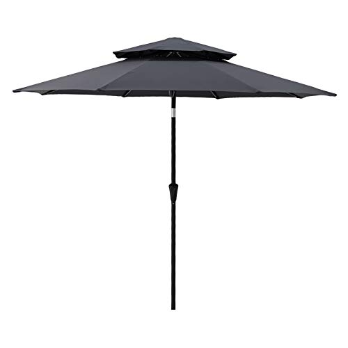 C-Hopetree 9 ft Double Top Outdoor Patio Market Umbrella $69.99 Shipped