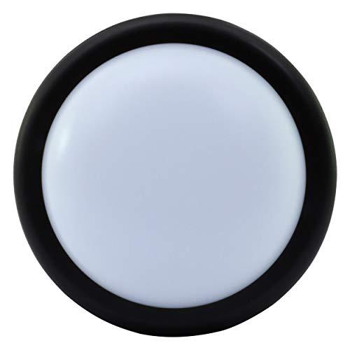REV 2102014200 Rundleuchte, LED Decken- Wandlampe, 14W, IP44, Ø20cm, bis 25.000h, schwarz