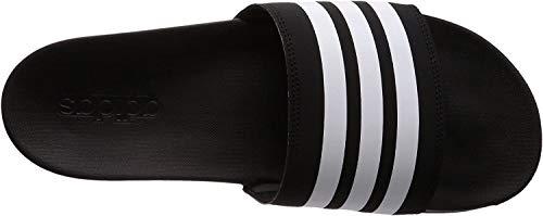 adidas Herren Cloudfoam Plus Stripes Adilette Dusch- & Badeschuhe, Schwarz (Negbás/Ftwbla 000), 42 EU (8 UK)