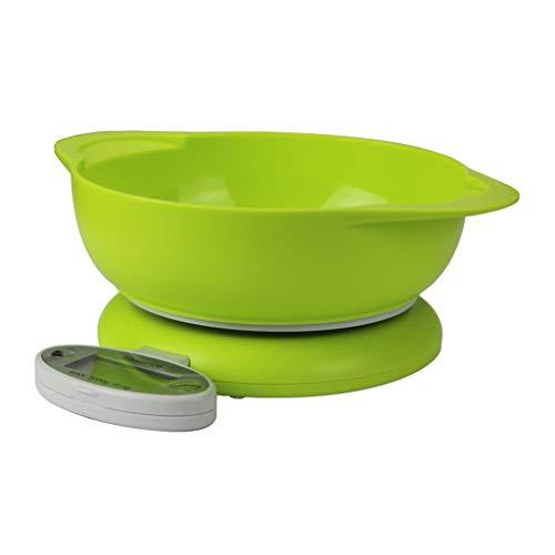 Erisl Digital Kitchen Scale, 5 Kg / 1g, RVS Coffee Weegschalen Eten Weegschalen Voor Het Wegen Keuken Tool, Met 1 Bowl Of 2 Bowls