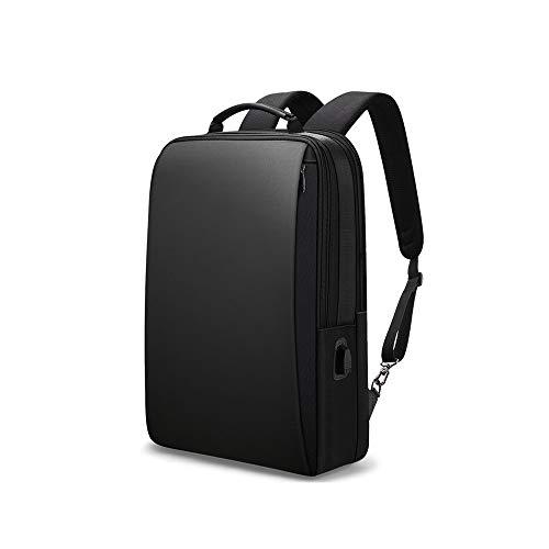 Kfhfhsdgsamsjb Mochila de Negocios para Hombres, Carga Externa USB 15 Pulgadas portátil Mochila antirrobo Impermeable Mochila de Viaje