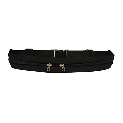 Mochila ligera de honda, Dual Pocket Running Belt Bolsa para teléfono Riñonera Sports Travel Riñonera Outdoor para ropa casual