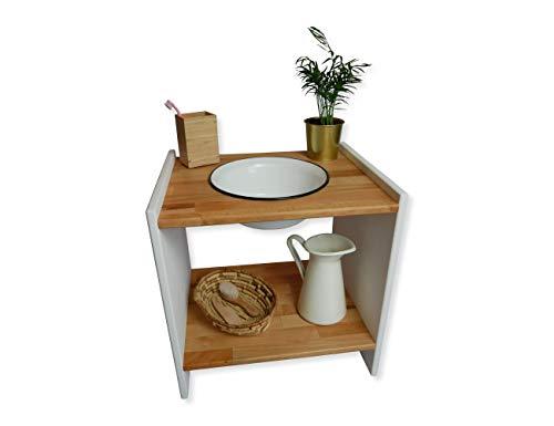 HOLZARTIG-DESIGN® Kinderwaschtisch - Waschtisch für Kinder - Kinder Waschbecken zum Zähne putzen - Waschtisch Holz - Waschschüssel Baby