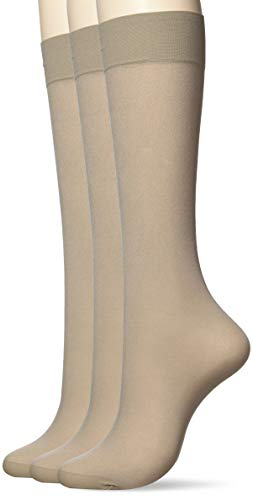 [アツギ] ソックス むつ SOCKS (むつソックス) 日本製 絹入り ひざ下丈 クチゴムゆったり <3足組> レディース FS5041 シルクグレー 22~25cm (FREEサイズ)