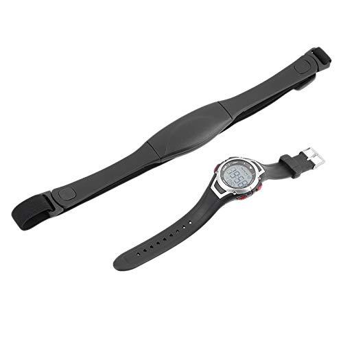Orologio sportivo da polso impermeabile da 3 metri con cardiofrequenzimetro impermeabile, orologio da sub con retroilluminazione
