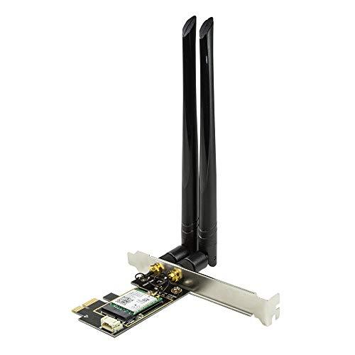 LogiLink WL0245 - PCIe Karte (PCI Express), Wi-Fi 6 & BT 5.0, WLAN und Bluetooth Kombi-Karte für den PC mit Intel AX200 Chipsatz, Windows/MAC OS/Linux