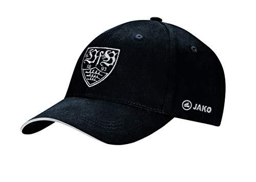 JAKO VfB Stuttgart Team Cap, schwarz/Silber, One Size