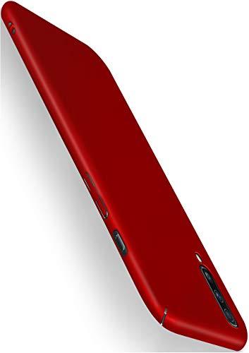 moex Alpha Case für Samsung Galaxy A50 / A30s Hülle Stoßfest und Leicht Handyhülle Extra Dünn, Super Slim Schutzhülle Ultra Air Hybrid PC Hardcase aus Kunststoff - Matt Rot