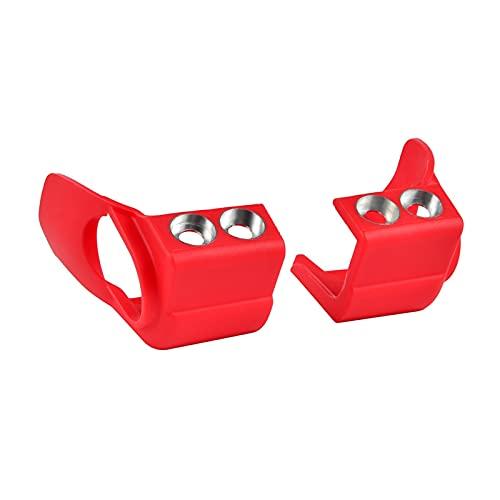 binbin Zapatos de la Pierna Frontal de la Horquilla Cubierta Protector de protección para Kawasaki KX250F KX450F KX 250F 450F 2009-2019 KXF 250 450 2009-2021 2020 (Color : Red)