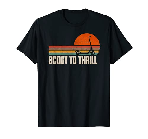 Push Scooter Scoot to Thrill Stunt Vintage T-Shirt