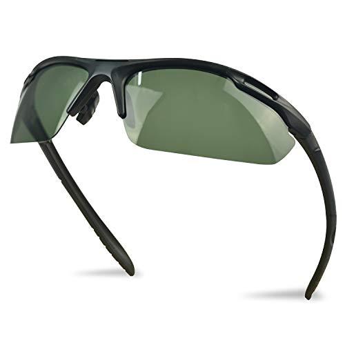 SUHINFE Polarisierte Sonnenbrille für Herren und Damen, UV Schutz polarisiert verspiegelt für Radfahren Skifahren Autofahren Fischen Laufen Wandern Sport, Grün